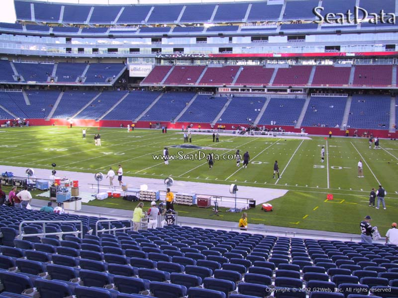 View From Club Seats at Gillette Stadium Club Seats at Gillette Stadium