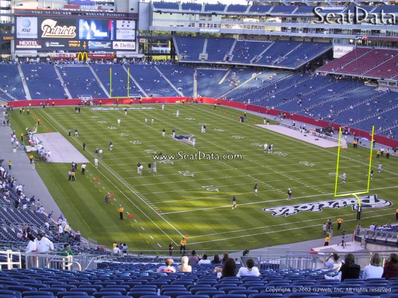 New England Patriots Seat View for Gillette Stadium Section 201