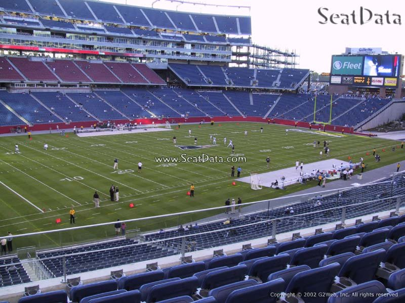 View From Club Seats at Gillette Stadium Gillette Stadium Seat View