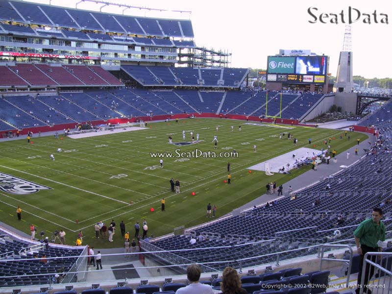 New England Patriots Seat View for Gillette Stadium Section 216