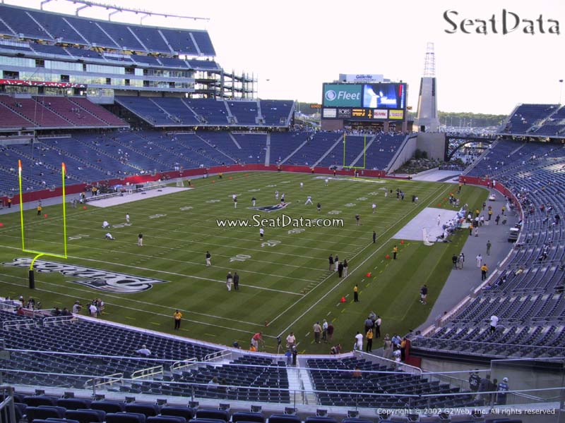 New England Patriots Seat View for Gillette Stadium Section 218