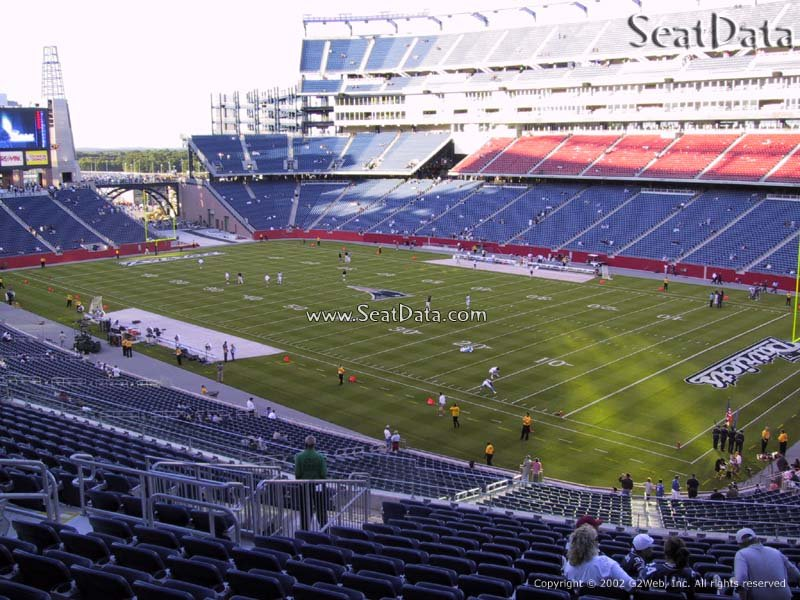 New England Patriots Seat View for Gillette Stadium Section 226