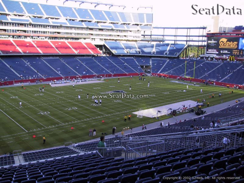 New England Patriots Seat View for Gillette Stadium Section 236