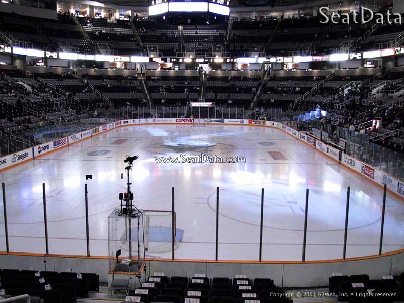 View from Section 107 at the SAP Center