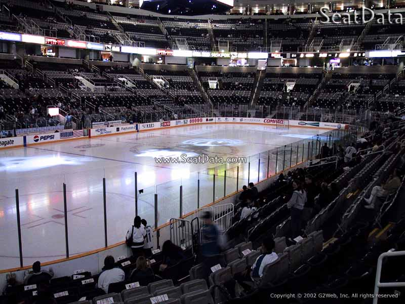 San Jose Sharks Seat View for SAP Center Section 118