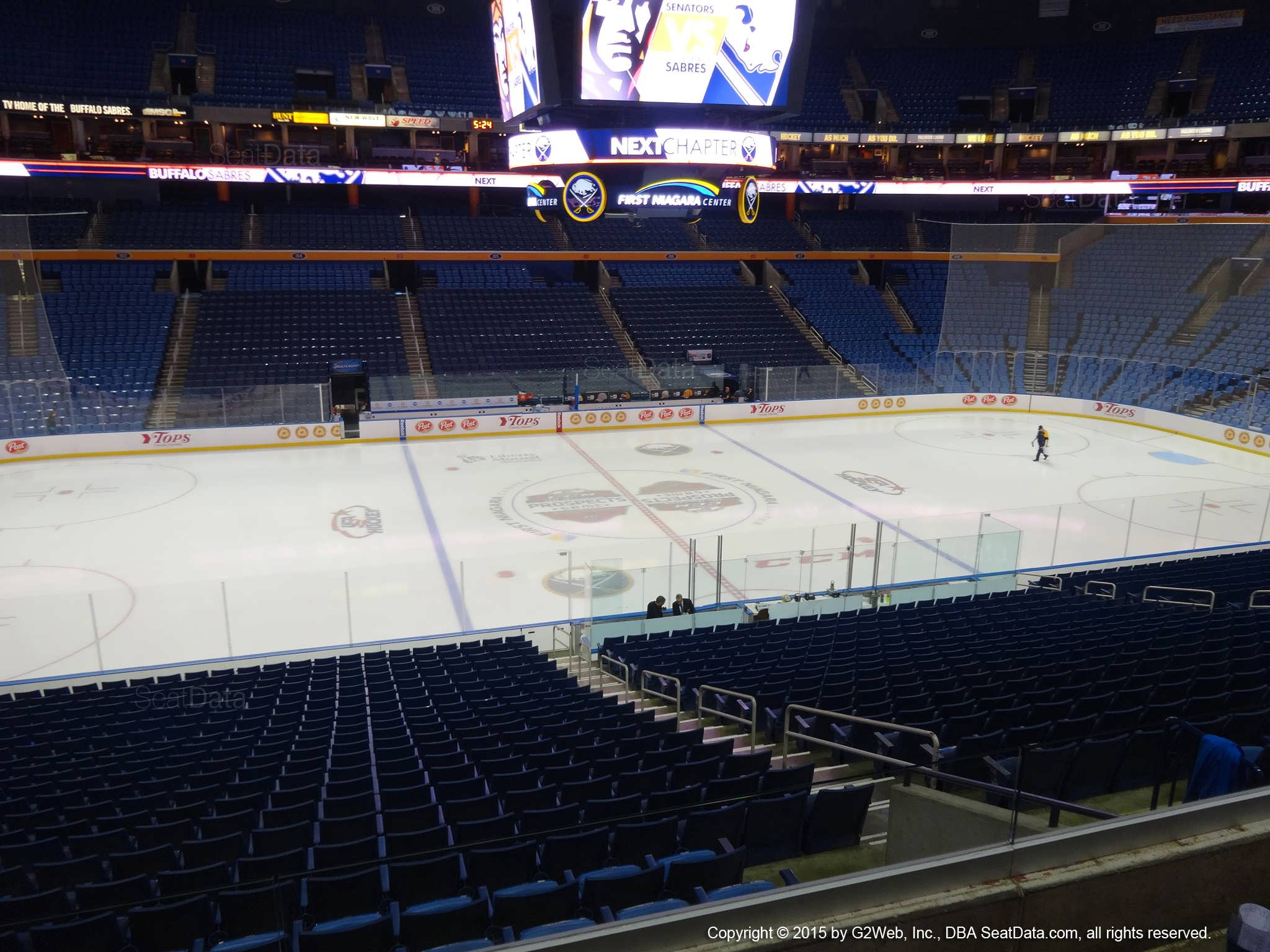 keybank center section 219 - buffalo sabres