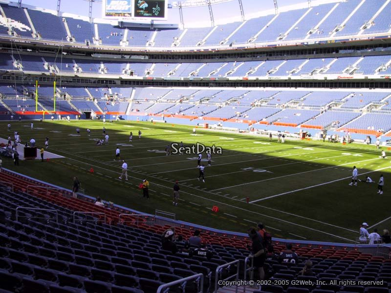 Sports Authority Field Section 100 Seat View