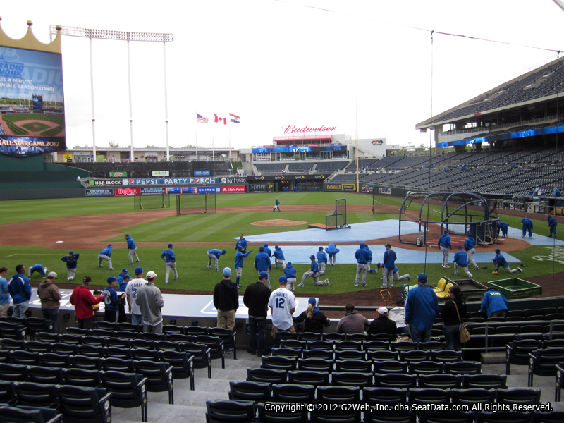 View from Section 123 at Kauffman Stadium