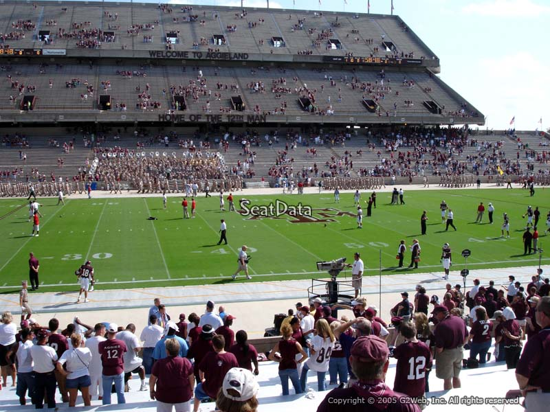 Seat View for Kyle Field Field Box 9