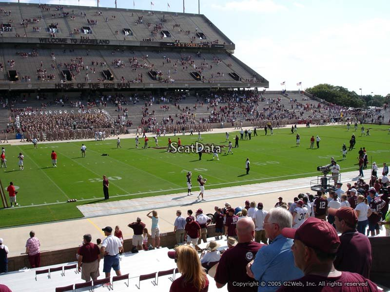 Seat View for Kyle Field Field Box 10