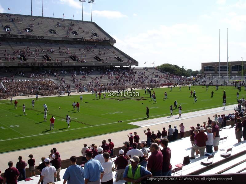 Seat View for Kyle Field Field Box 11