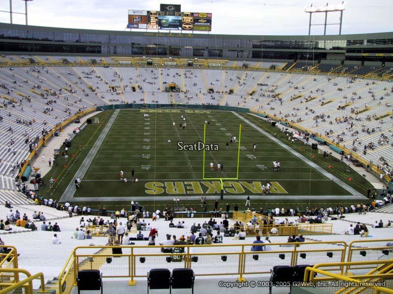 300 Level Endzone Lambeau Field Football Seating