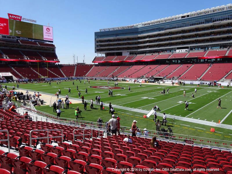 Levi S Stadium Section 109 Rateyourseats Com