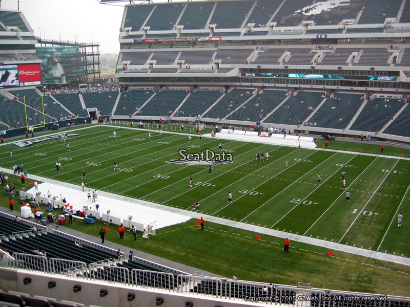 Lincoln Financial Field Section C25 View