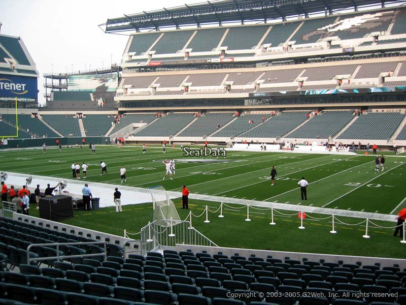 Section 104 Seat View At Lincoln Financial Field
