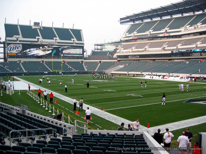 Lincoln Financial Field Section 107 Philadelphia Eagles