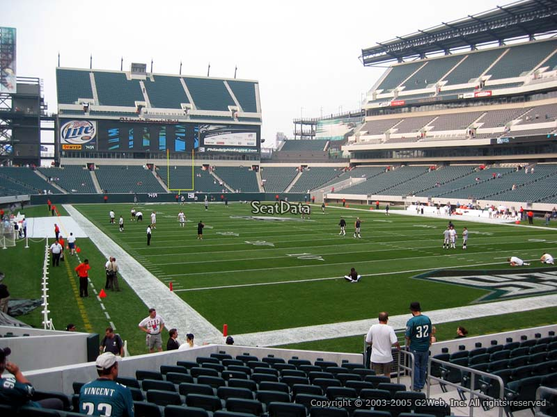 Philadelphia Eagles Lincoln Financial Field Section 108