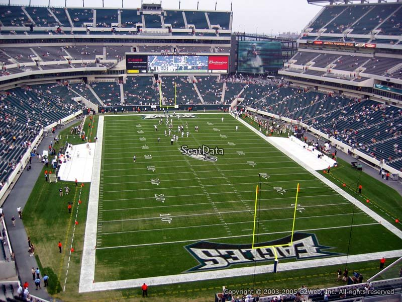 Seat View For Lincoln Financial Field Section 234