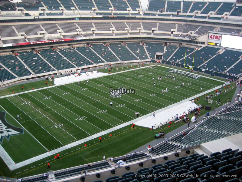 Section 240 Seat View At Lincoln Financial Field