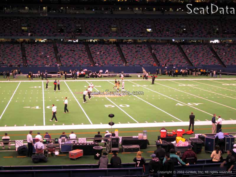 Superdome section 115 new orleans saints for Mercedes benz superdome club level seating