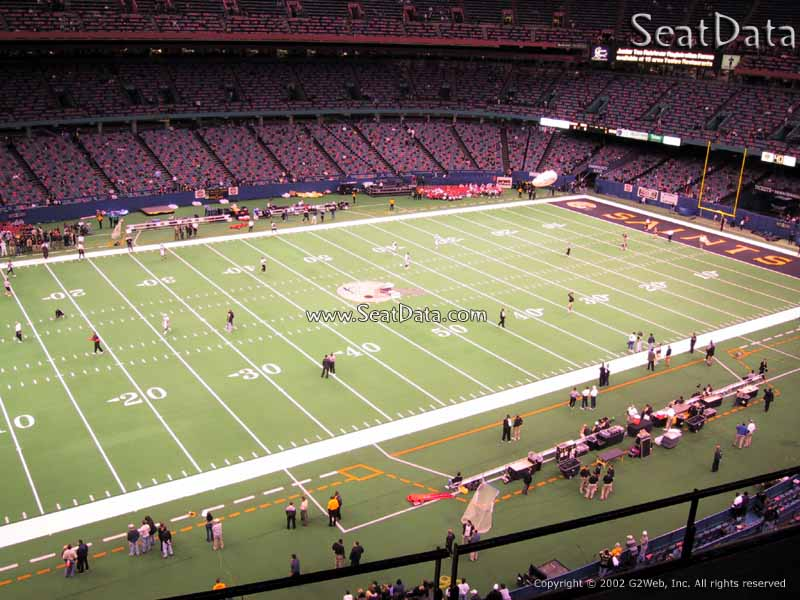 Superdome section 553 new orleans saints for Mercedes benz superdome club level seating