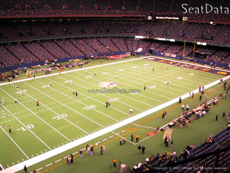 Superdome section 555 new orleans saints for Mercedes benz superdome club level seating