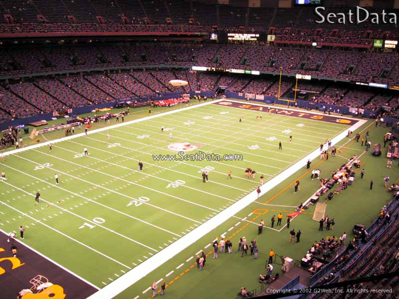 Superdome section 557 new orleans saints for Mercedes benz superdome club level seating