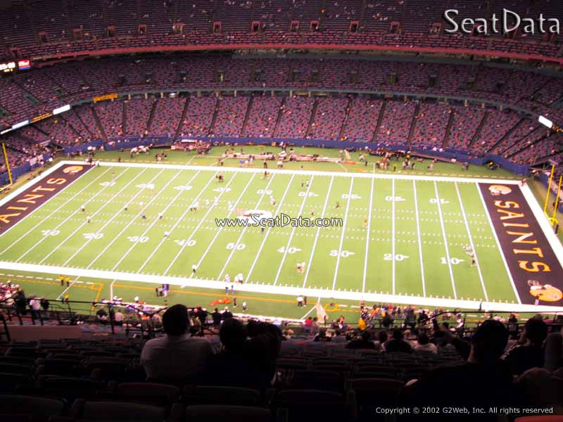 Superdome section 612 new orleans saints for Mercedes benz stadium interactive seating chart