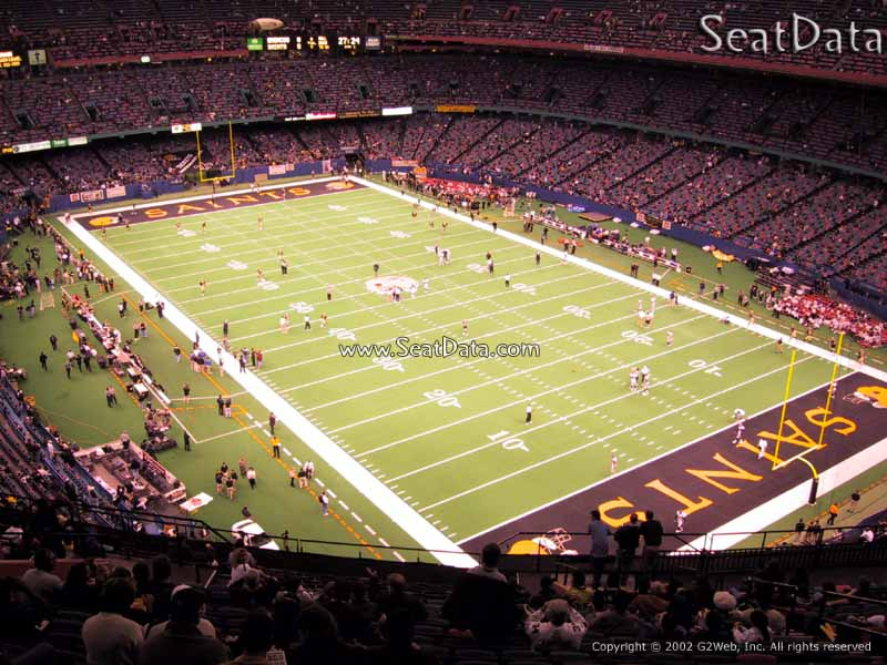 Superdome section 631 new orleans saints for Mercedes benz superdome club level seating