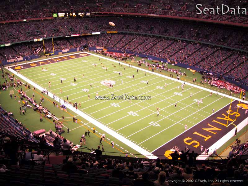 Superdome section 632 new orleans saints for Mercedes benz superdome club level seating
