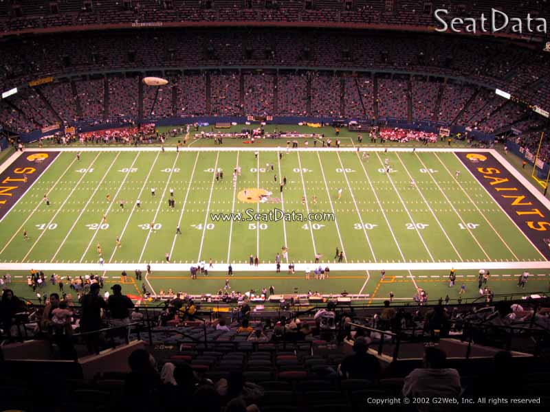 Superdome Section 640 - New Orleans Saints - RateYourSeats.com