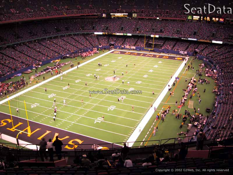 Superdome section 649 new orleans saints for Mercedes benz superdome club level seating