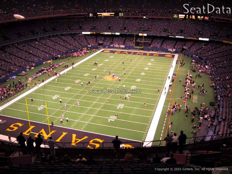 Superdome section 650 new orleans saints for Best seats in mercedes benz superdome
