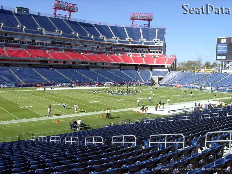Seat View for Nissan Stadium Section 116
