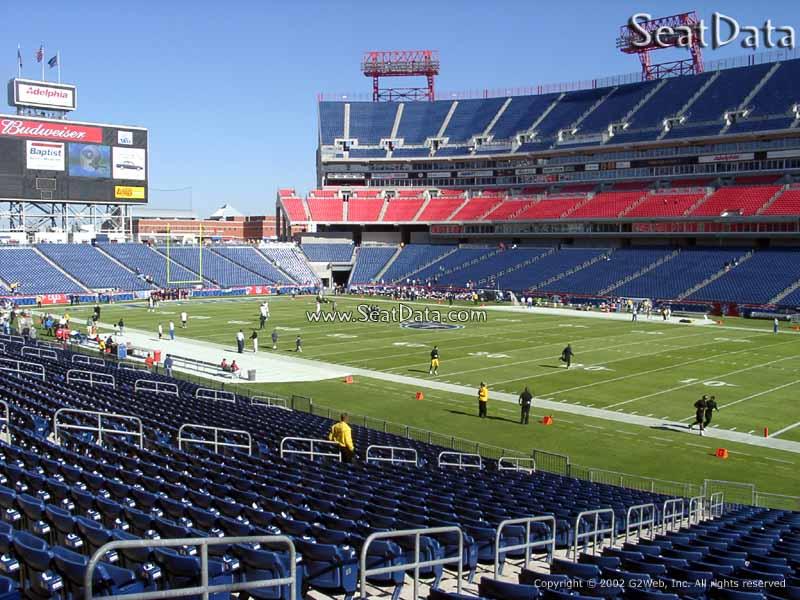 Nissan Stadium Section 131 Tennessee Titans