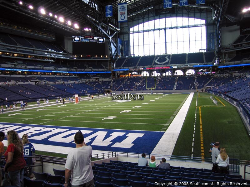Lucas Oil Stadium Section 124 Seat View