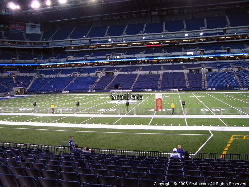 Indianapolis Colts Seat View for Lucas Oil Stadium Section 139