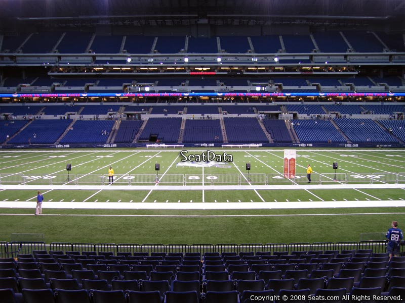 Indianapolis Colts Seat View for Lucas Oil Stadium Section 140