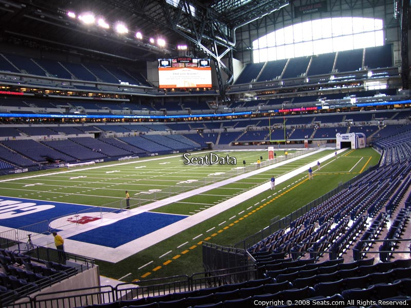 Lucas Oil Stadium Section 148 Seat View