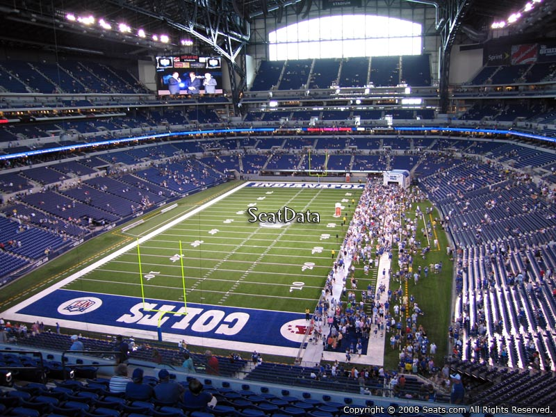 Indianapolis colts lucas oil stadium section 451 for Terrace end zone lucas oil stadium