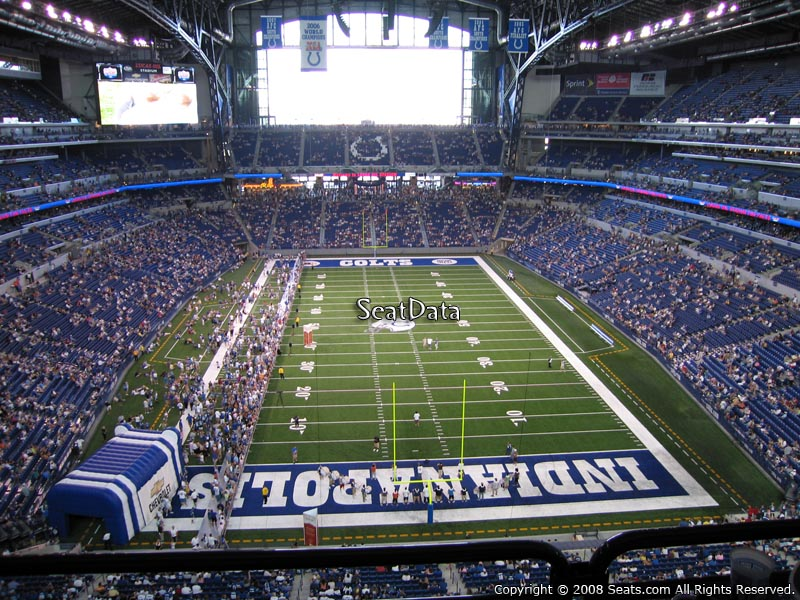 Lucas oil stadium section 527 indianapolis colts for Terrace end zone lucas oil stadium