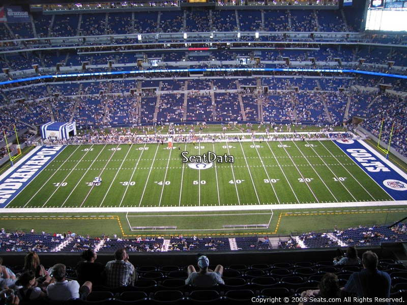 View from section 613 for Terrace end zone lucas oil stadium