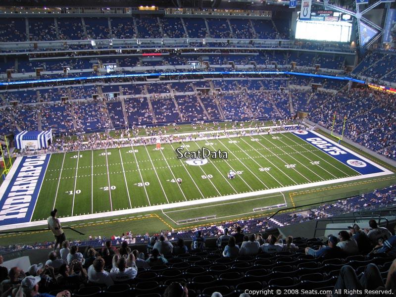 Lucas oil stadium section 615 seat views seatscore for Terrace end zone lucas oil stadium
