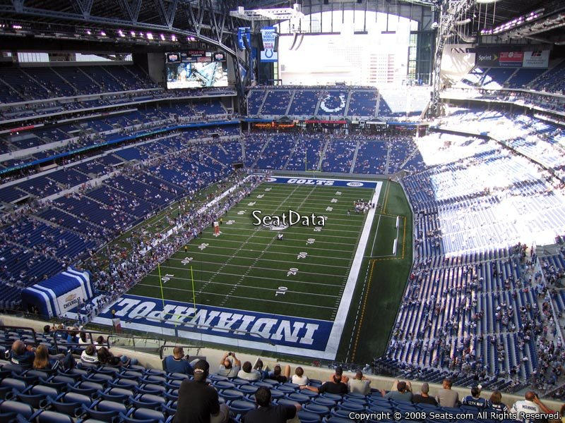 Lucas Oil Stadium Section 624 Seat View