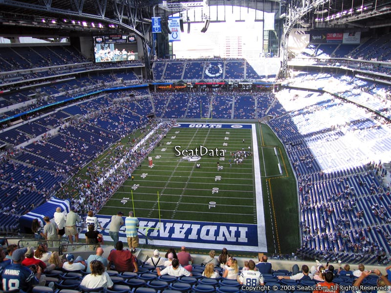 Indianapolis colts lucas oil stadium section 625 for Terrace end zone lucas oil stadium