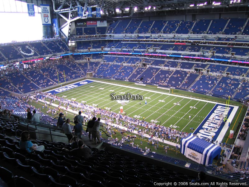 Indianapolis colts lucas oil stadium section 635 for Terrace end zone lucas oil stadium