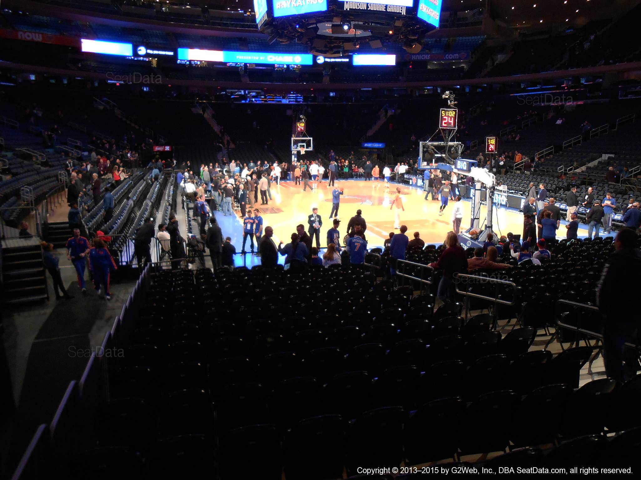 Madison Square Garden Section 1 New York Knicks