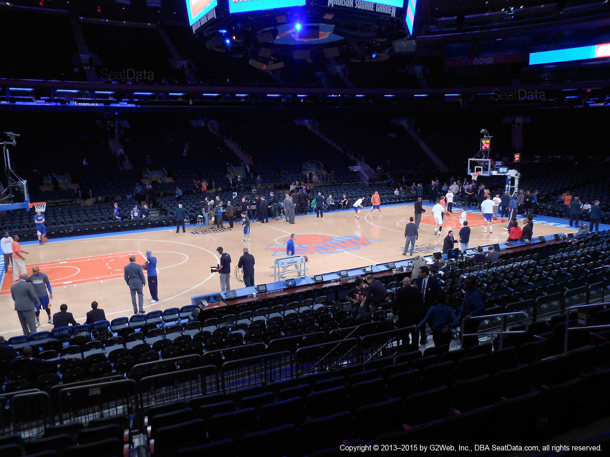 New York Knicks Madison Square Garden Section 106
