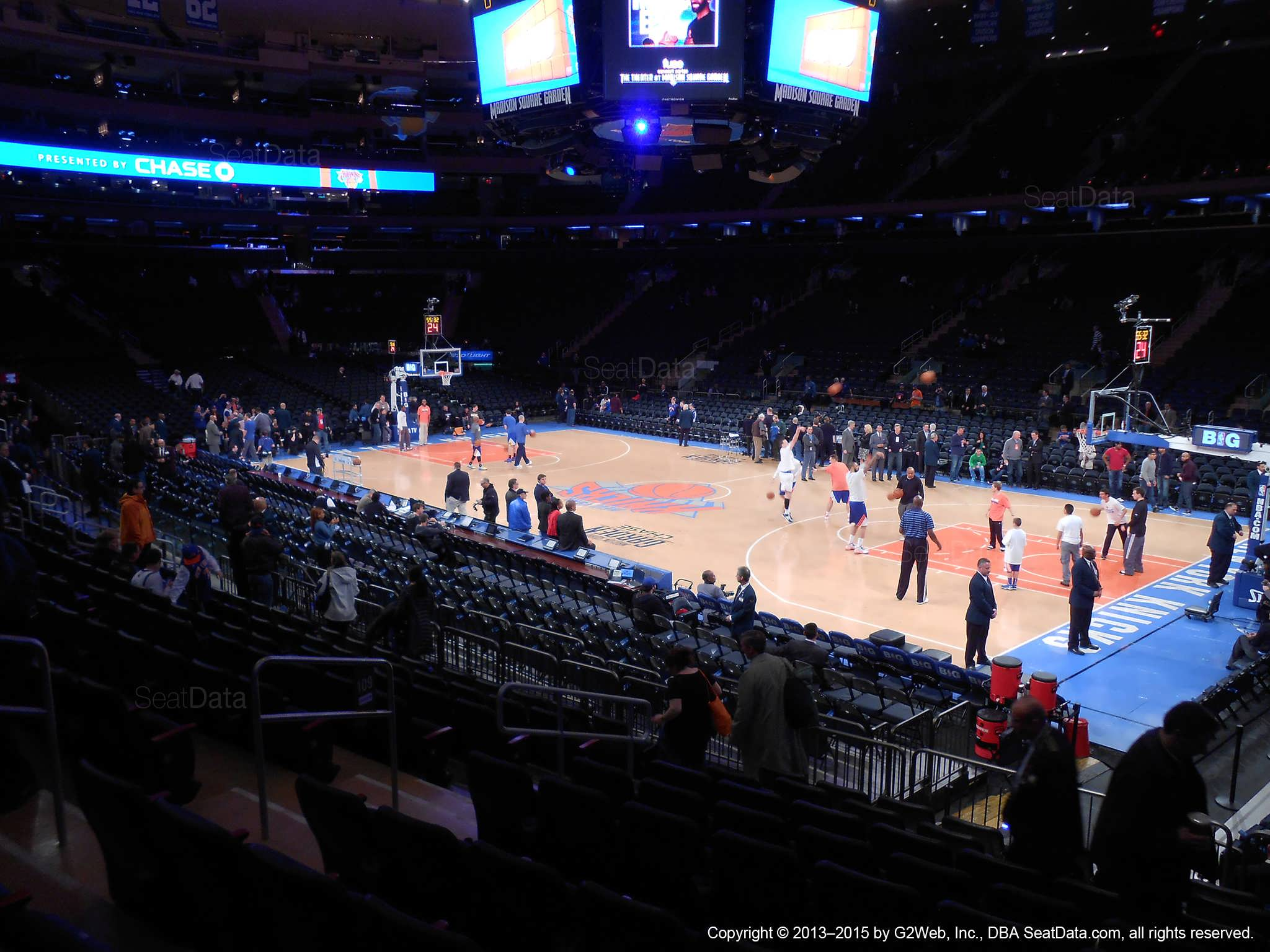 Madison Square Garden Section 109 New York Knicks