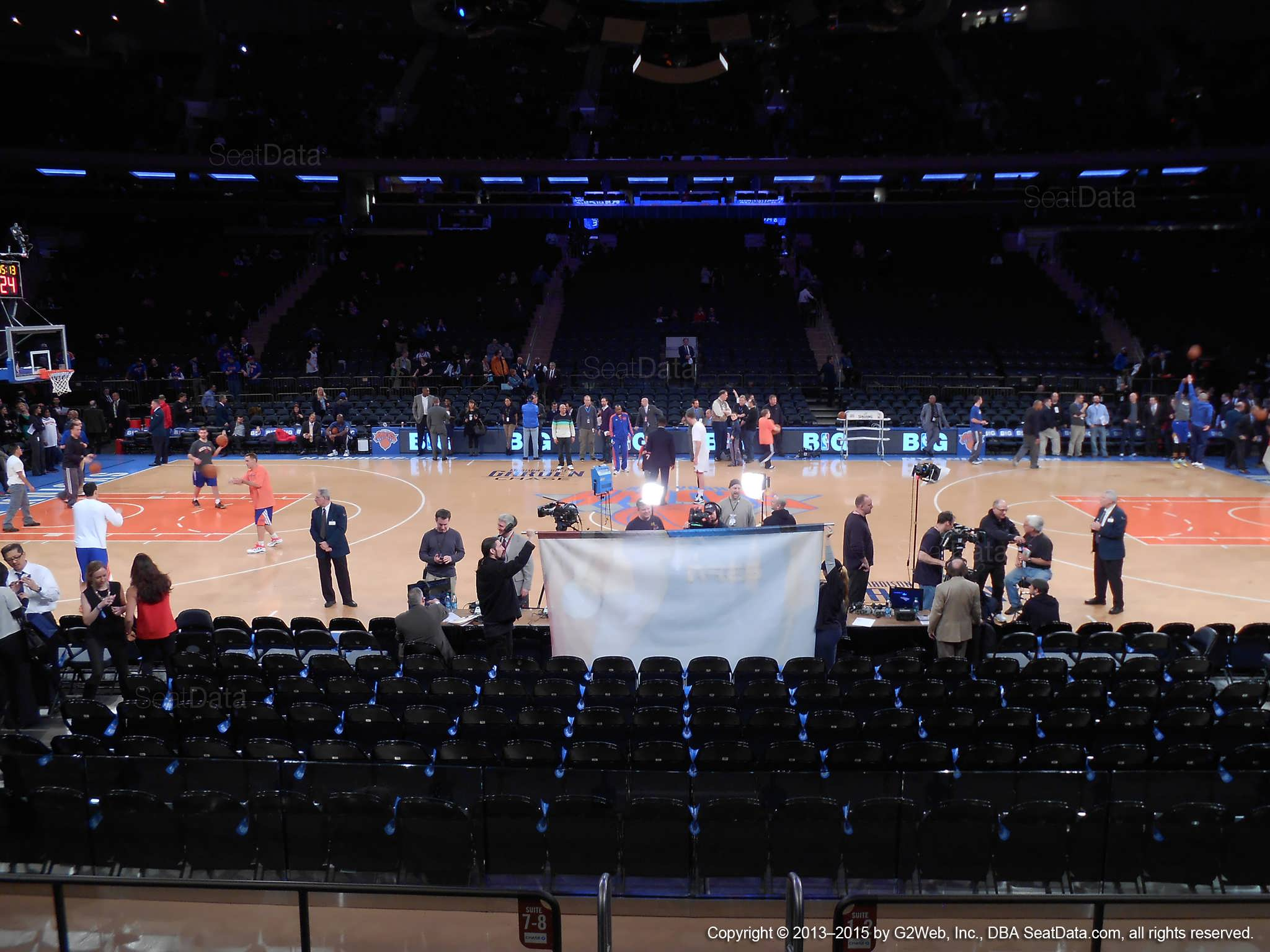 Madison Square Garden Section 11 New York Knicks